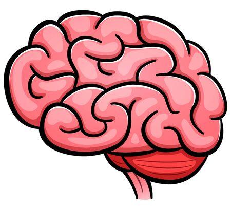 Vector illustration of human brain cartoon isolated