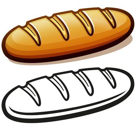 Vector illustration of bread loaf cartoon isolated 向量圖像