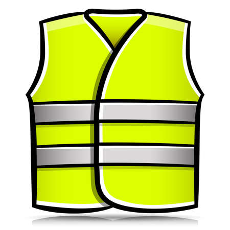 Vector illustration of yellow vest isolated cartoon