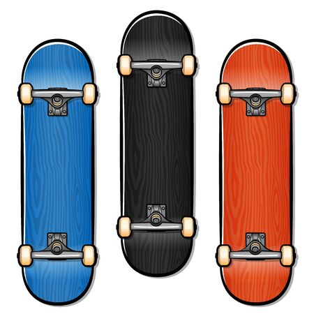 Vector illustration of skateboard cartoon isolated design