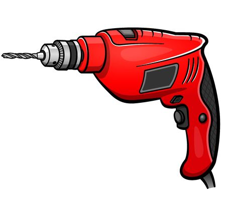 Vector illustration of drill cartoon isolated design 向量圖像