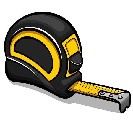 Vector illustration of tape measure cartoon isolated