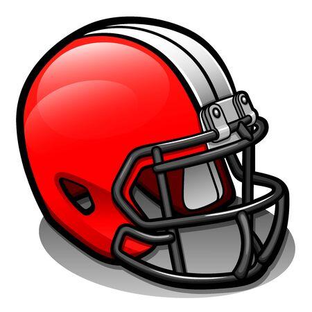 Vector illustration of football helmet cartoon isolated