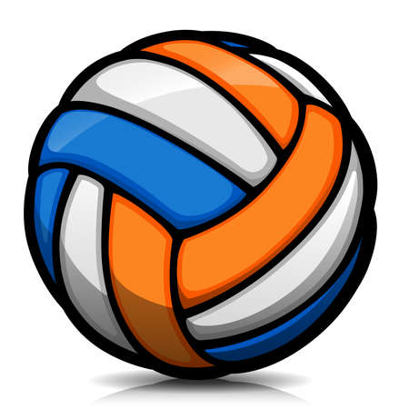 Vector illustration of volleyball ball cartoon isolated