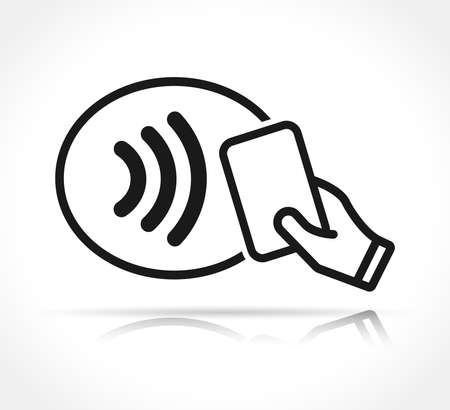 Vector illustration of contactless payment icon sign Illustration