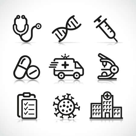 Vector illustration of medical icon design set