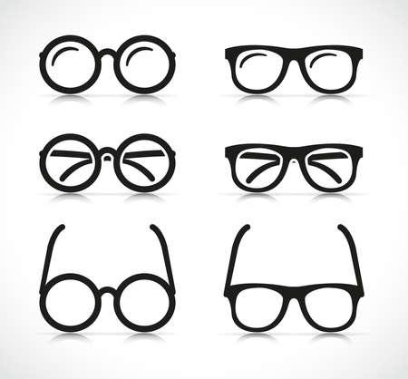 Vector illustration of eye glasses silhouette icon