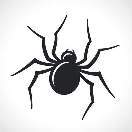 spider black icon isolated vector illustration design Vektorgrafik