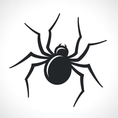 spider black icon isolated vector illustration design Ilustración de vector
