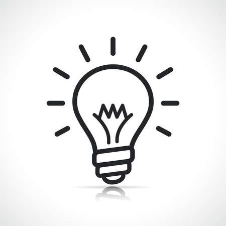 bulb or lightbulb icon isolated line symbol Vecteurs