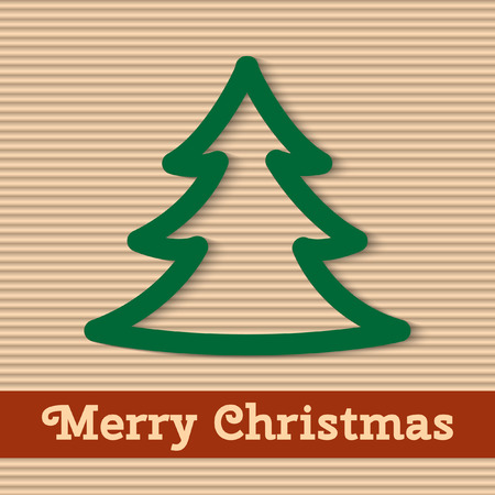 Merry Christmas card  Vector illustration  Vector