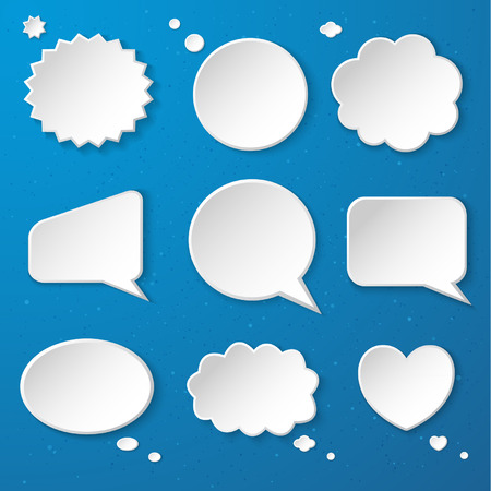 Set of paper speech bubbles  Stock Vector - 24257574