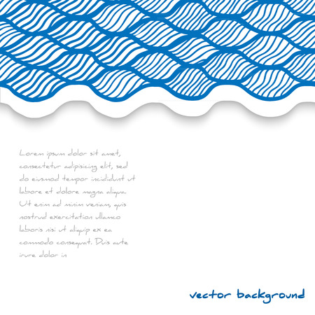 waved: Abstract waved template. Vector illustration. Illustration