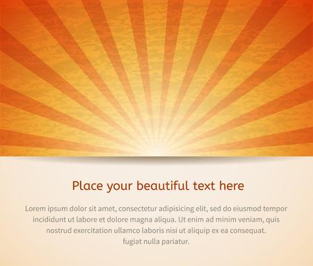 Sunny card for your business idea. Vector illustration. Ilustração