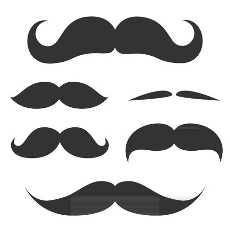 かわいい髭図のセットです。