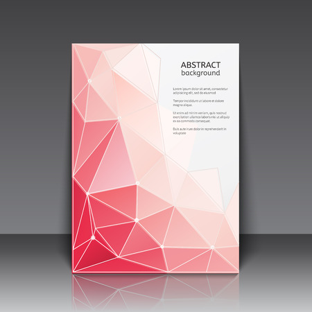 Abstact poster with triangles. Vector illustration.