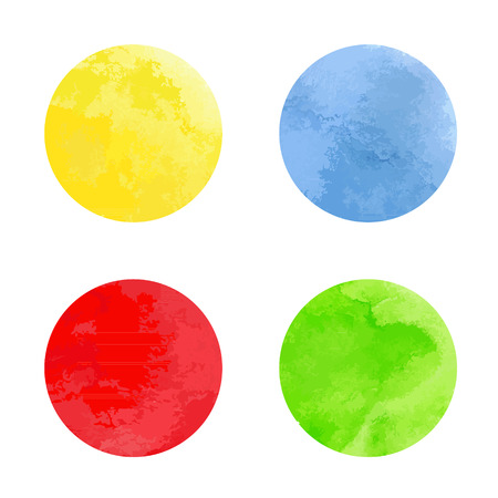 Watercolor circles. Vector