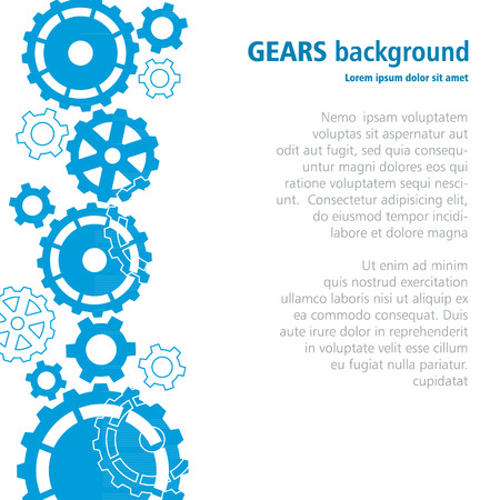 gears background: Gears background. Illustration