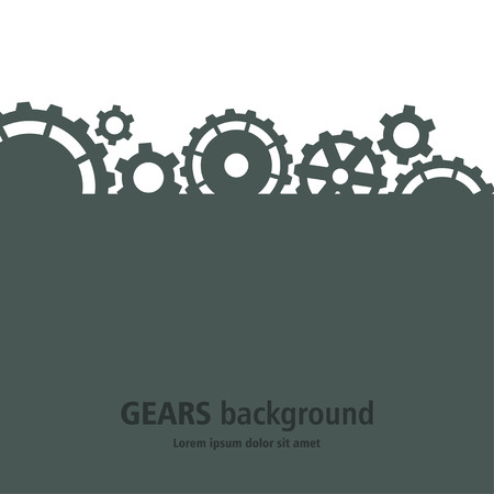 Gears background. Illustration