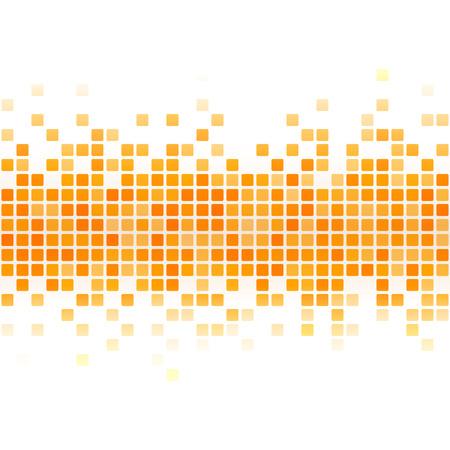 抽象的な黄色のピクセルの背景。