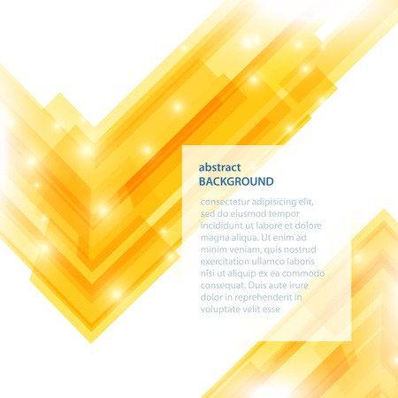 opacity: Abstract yellow background. Vector illustration with opacity and particles. Illustration