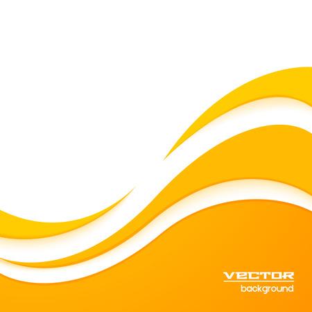 Yellow wave background Ilustração