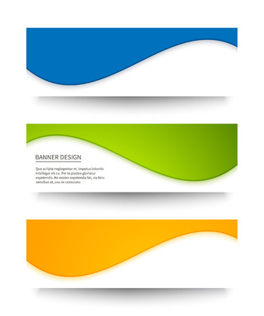 Set of abstract colored banners for your design.