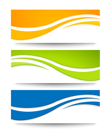 wave background: Set of vector banners for your design.