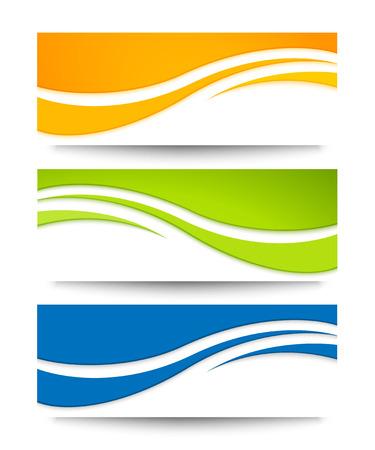 Set van vector banners voor uw ontwerp.