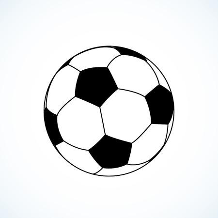 foot ball: Icon of soccer ball. Vector illustration. Illustration