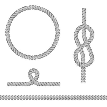 Éléments de corde abstraites. Vector illustration.