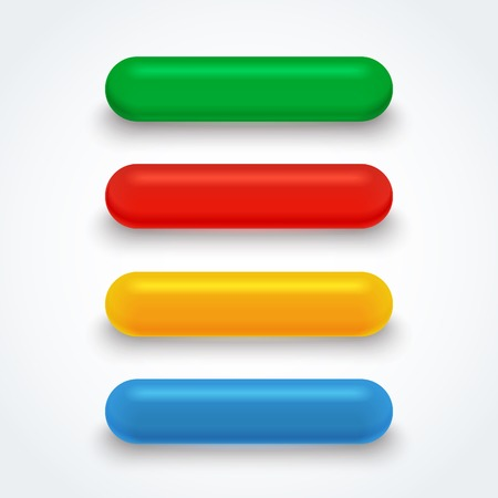 glass buttons: Set of bright isolated colorful glass buttons.