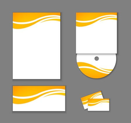 hojas membretadas: Elementos de Identidad Corporativa aislados. Vectores