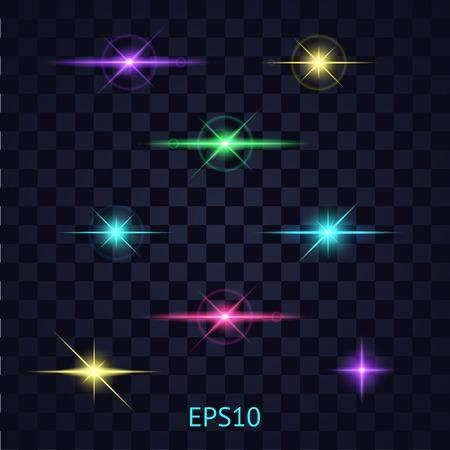 Lights on the transparent background. Ilustração