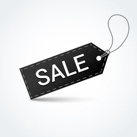 Sale black label. Vector illustration.