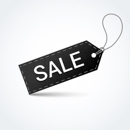 sell out: Sale black label. Vector illustration.