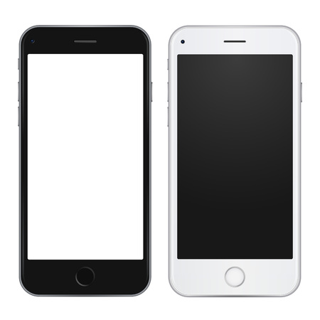 white phone template with blank screen royalty free cliparts