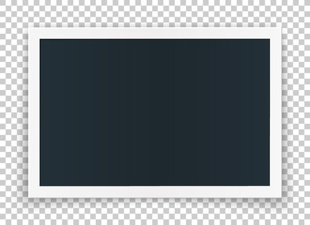 Horizontal photo frame concept, isolated on transparent background. Vector high quality detailed mock up, for photo and image or even video.