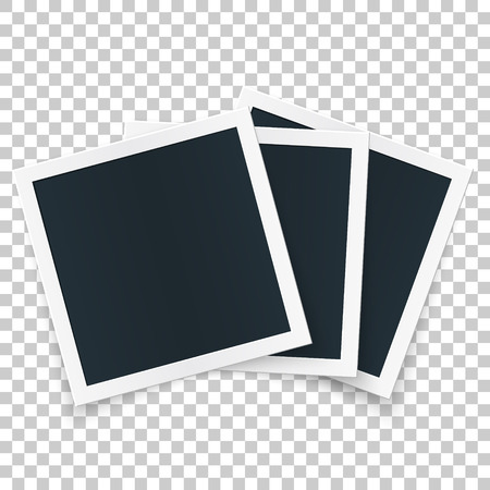Square image frame set concept, single isolated object with shadows on transparent background. Ilustração