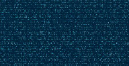 Matrix abstract background with binary numbers. Futuristic background with code or data, vector matrix wallpaper illustration. Vektoros illusztráció