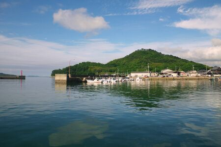 Suda Port in the Sukuma, where a liaison ship enters and leaves the island in the Seto Inland Sea