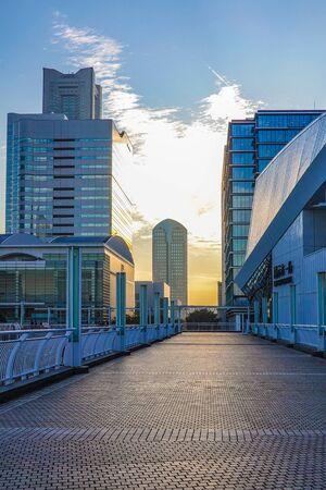 Sunset in Yokohama Minato Mirai Area