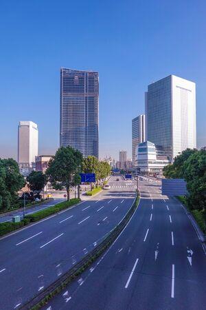 Yokohama Minato Mirai Boulevard Skyscrapers near completion