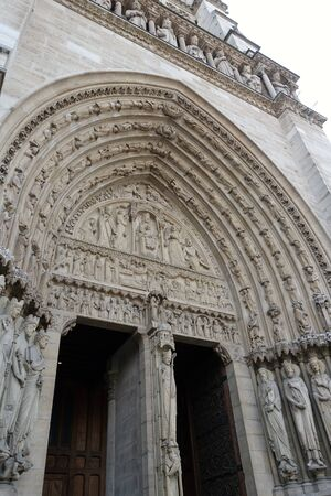 The Gate of Notre Dame Cathedral, The Island of Cite in Paris