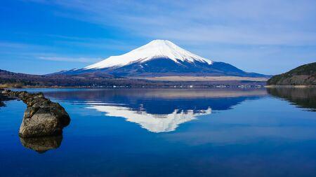 Mt. Fuji from Lake Yamanaka (Upside Fuji)