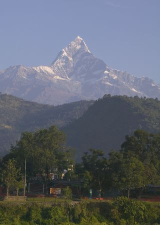 pokhara: Mt. Machapuchhare is also called Mt. Fish Tail. It can be seen in Pokhara.