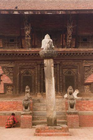 The Ramashwar Temple at Durbar square of  Bhaktapur. Stock Photo - 1810046