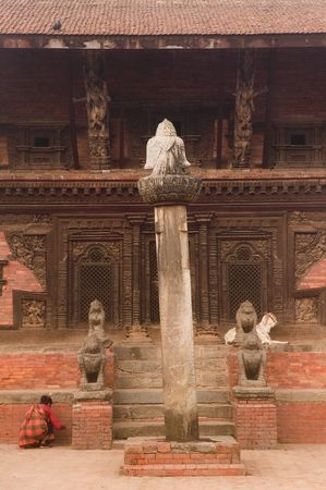 The Ramashwar Temple at Durbar square of  Bhaktapur. Stock Photo - 1810046