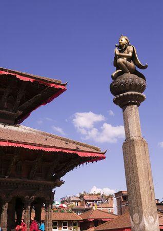 garuda: Statue of Garuda in Patan Durbar Square.