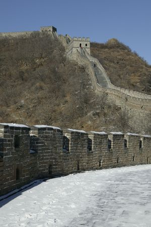 mutianyu: The Mutianyu Great Wall in the vicinity of Peking.